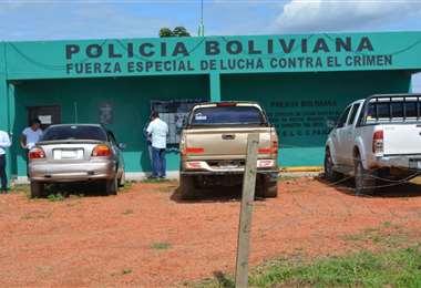 Policía de Pailón (Foto: HUBER VACA)