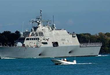 El USS Detroit, moderno buque de guerra de EEUU. Foto Getty Images