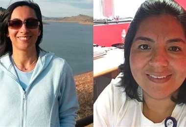 Karen Gómez y Milenka Arévalo, ambas bolivianas, están radicadas en EEUU