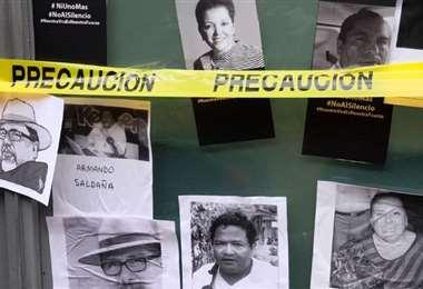 Algunos periodistas muertos en México. Foto AFP