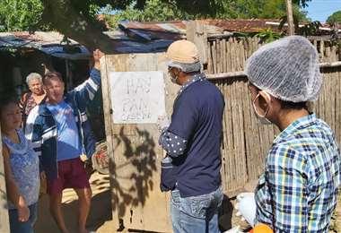 Campaña en el distrito 4 de Trinidad (Foto: Noti Riber)