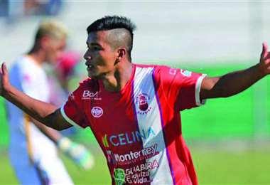 Mauricio Chajtur, delantero de Guabirá. Tiene 23 años. Foto: internet