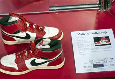 Las zapatillas de Jordan que fueron subastadas