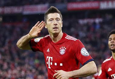Lewandowski abrió la cuenta para el Bayern