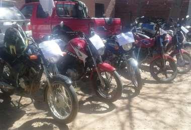 Motos robadas y recuperadas/Foto: Nestor Lovera