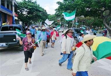 Una marcha de CIDOB en Beni
