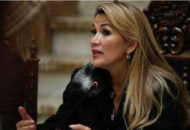La presidenta Jeanine Áñez pidió investigar la compra de ventiladores | Foto: Archivo