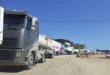 Bloqueo de ruta en Yapacaní