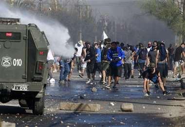 La protesta fue reprimida por la policía. Foto AFP