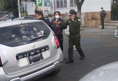 La Policía detuvo esta tarde a Fernando Valenzuela. Foto Ministerio de Gobierno