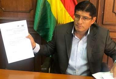El viceministro de Tierras, Gustavo Terraza