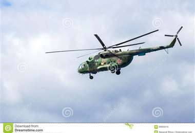 Un Mi-8 de la fuerza aérea rusa. Foto Internet