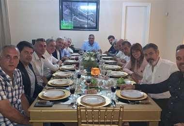 Una de las reuniones de los directivos de la nueva Liga del Fútbol Profesional de Argentina. Foto: Diario Olé
