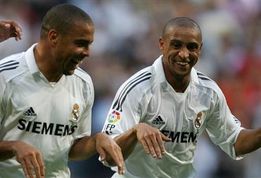 Ronaldo y Roberto Carlos jugaron juntos en el Real Madrid