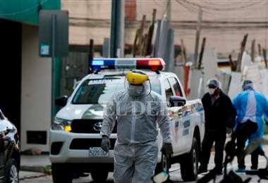 El paciente fue capturado por la Policía (Foto: RICARDO MONTERO)