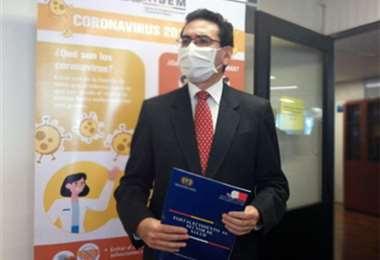 Giovanni Pacheco Fiorilo el día de su posesión. Foto: Ministerio de Salud.