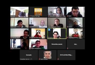 Una imagen de la reunión que sostuvo el martes 19 de mayo el Comité Organizador de los juegos. Foto: Captura de pantalla