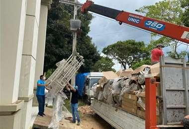 A Trinidad llegaron 11 respiradores. Foto: ABI