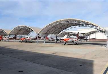 Una sección de la base aérea de Texas. Foto Internet
