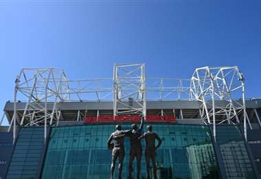 El estadio de Old Trafford, del equipo de fútbol inglés Manchester United, en una imagen del 21 de abril de 2020. Foto: internet