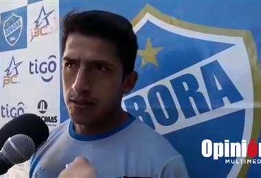 Amilcar Sánchez, mediocampista cochabambino que juega en Aurora. Foto: Internet