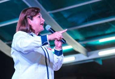 Violeta Ávila en una actividad municipal. Foto Internet