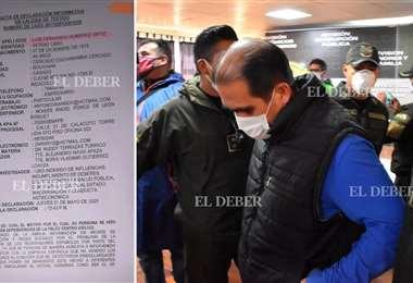 El jueves Fernando Humérez prestó su declaración informativa ante la Fiscalía | Foto: EL DEBER/APG