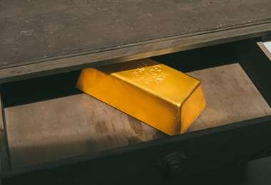 Imagen ilustrativa de un lingote de oro. Foto Internet
