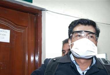 El juez hugo Huancani cuando fue aprehendido este viernes | Foto: APG