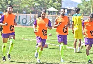 Un entrenamiento de Municipal Vinto antes de la paralización del torneo Apertura 2020. Foto: internet