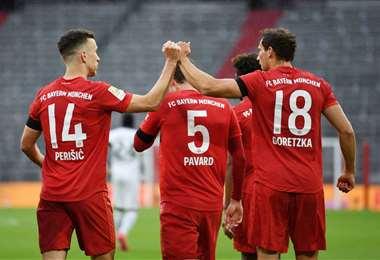 El Bayern Múnich ratificó este sábado que es otra vez candidato al título en la liga alemana. Foto: AFP