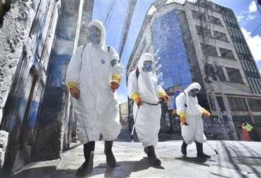 Desinfección en las calles I APG Noticias.