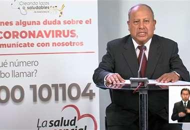 El director nacional de Epidemiología salió a la defensa de Navajas /Foto: ABI
