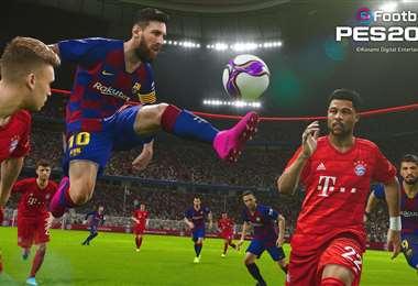 Messi se lleva la pelota en un partido virtual. Es uno de los preferidos de los gamers. Foto: internet