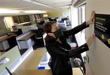 La pandemia del coronavirus cambiará el trabajo en las oficinas