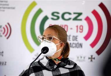La alcaldesa pide a la población acatar la cuarentena. Foto Ricardo Montero
