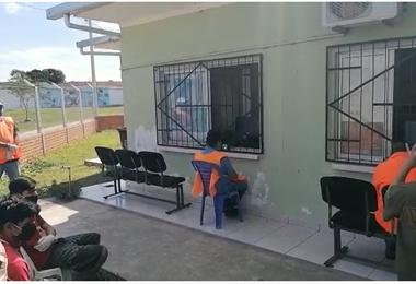 Imágenes de las audiencias durante una inspección a Palmasola la anterior semana