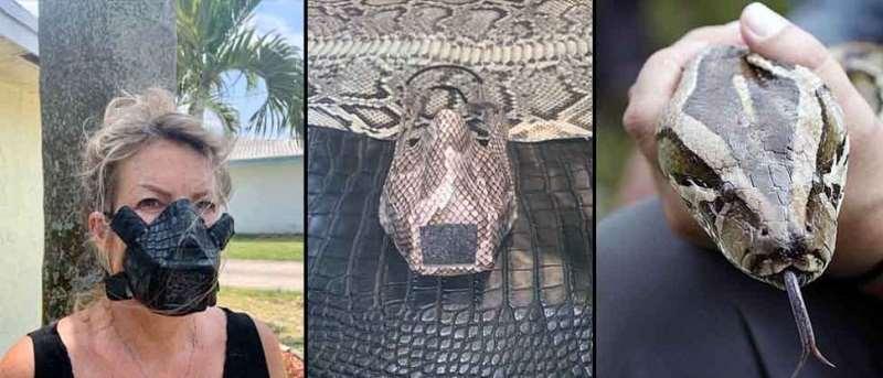 Hombre en EEUU hace mascarillas con piel de iguanas y serpientes ...