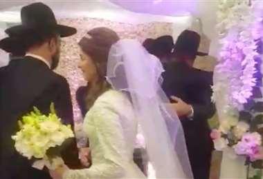 La boda judía del pasado miércoles. Foto Internet