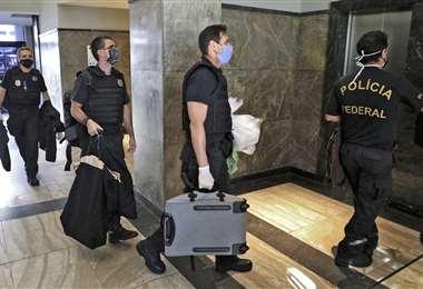 La Policía Federal realizó el operativo. Foto AFP