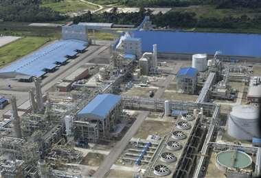 En la planta de urea y amoniaco se invirtieron más de $us 950 millones /Foto: ABI