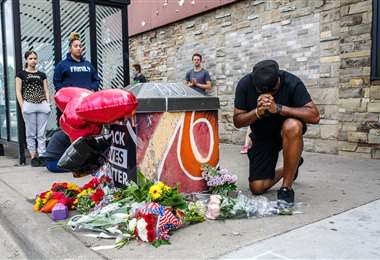 Lugar donde asesinaron a Floyd. Foto AFP