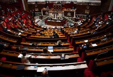 Vista general de la Asamblea Nacional Francesa en París. Foto AFP