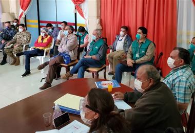 Autoridades nacionales se trasladaron a Trinidad para apoyar en la contención de Covid-19. Foto. Erwin Flores