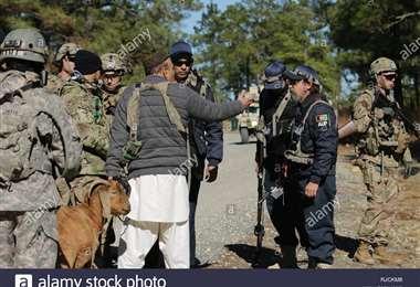 Miembros de las fuerzas de seguridad de EEUU  en Afganistán. Foto Internet