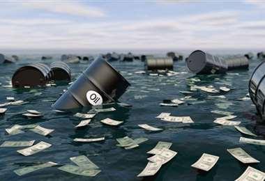 El petróleo volvió a bajar. Foto Internet