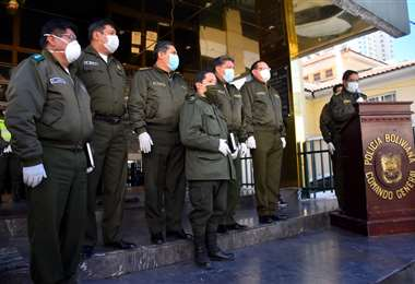Efectivos de la Policía Boliviana I APG Noticias.