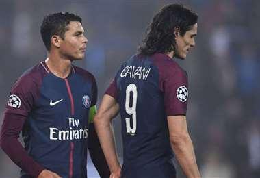 El PSG quiere jugadores en los puestos en los que juegan Thiago Silva y Edinson Cavani. Foto: Internet