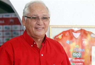 El presidente de Guabirá, Rafael Paz, expuso sus inquietudes en la reunión de los clubes de la División Profesional. Foto: El Deber