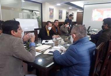 Reunión con el BID para obtener financiamiento